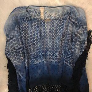 Chico's O/S tassel pullover